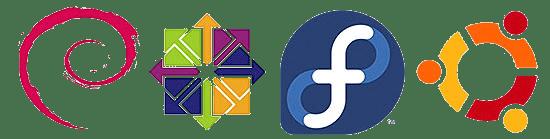 Ubuntu Debian Centos Fedora