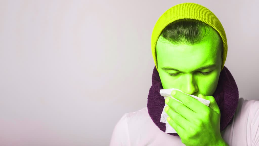 Covering while coughing or sneezing